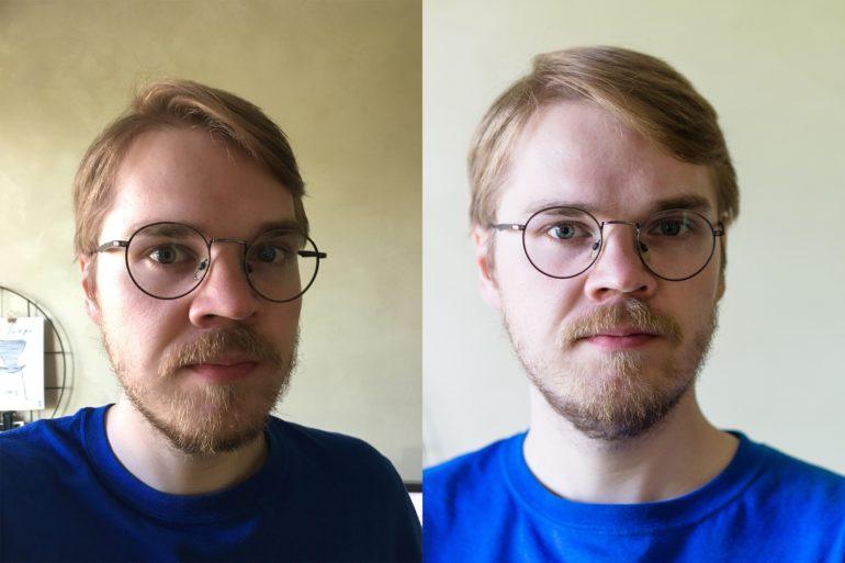 Kaks portree fotot kõrvuti