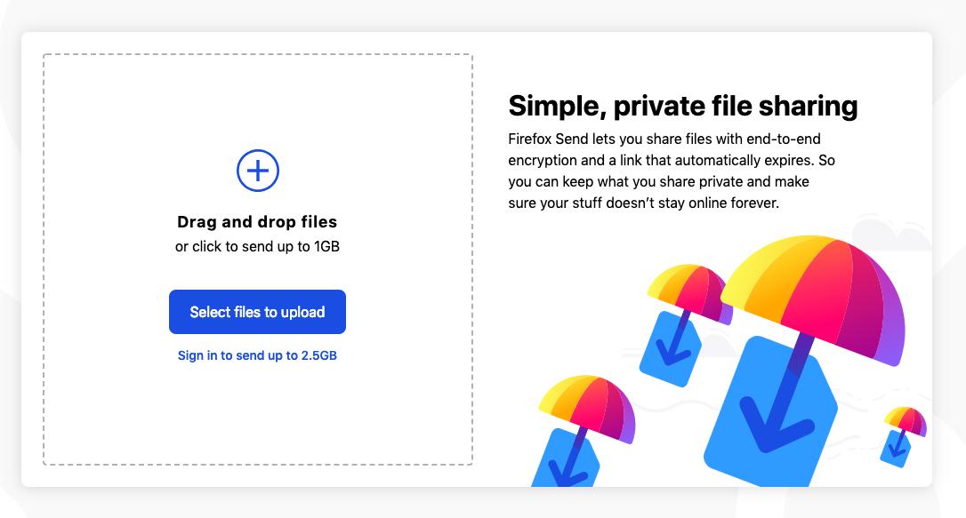 Mozilla tegi uue ja lihtsa failide saatmise teenuse, mis need ka ära krüptib